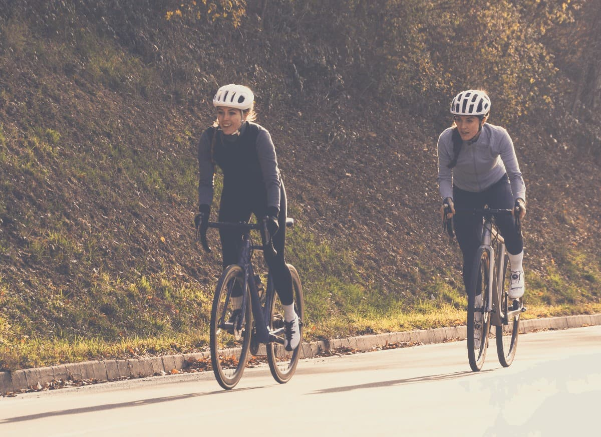 2 Cyclists in Autumn