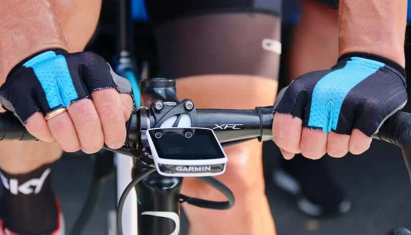Garmin Power Meter With Cyclists Hands On Handlebar