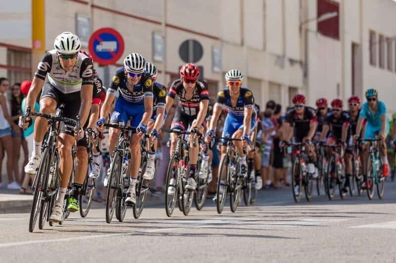 Panoramic View Of Road Cycling Peloton