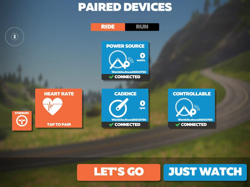 Zwift Pair Devices