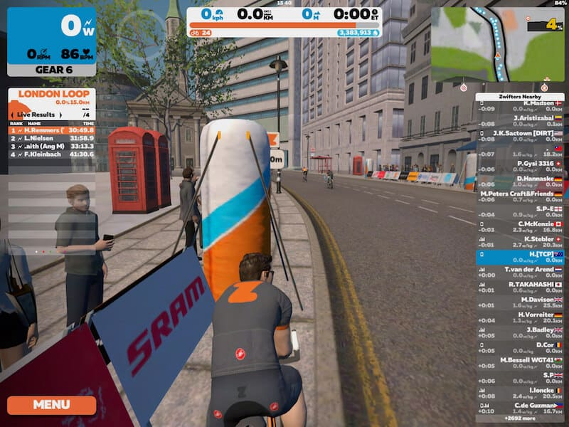 Zwift Game Loaded