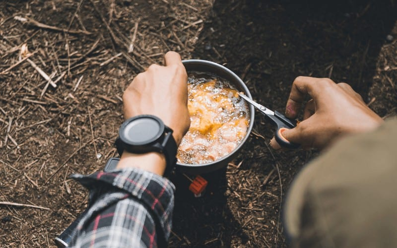 Cooking on a portable stove