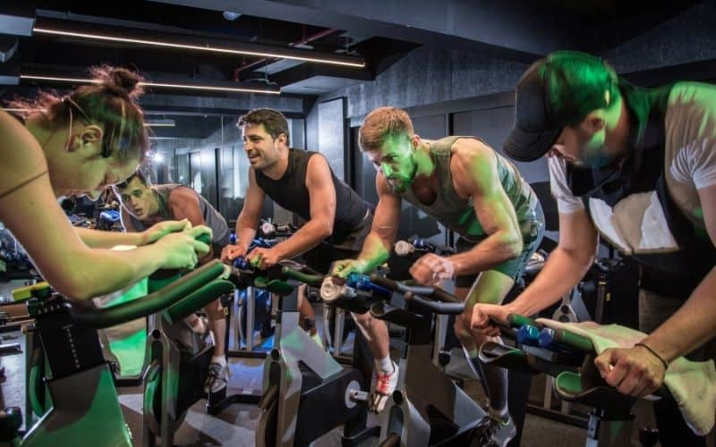 Spinning Class With 4 Guys