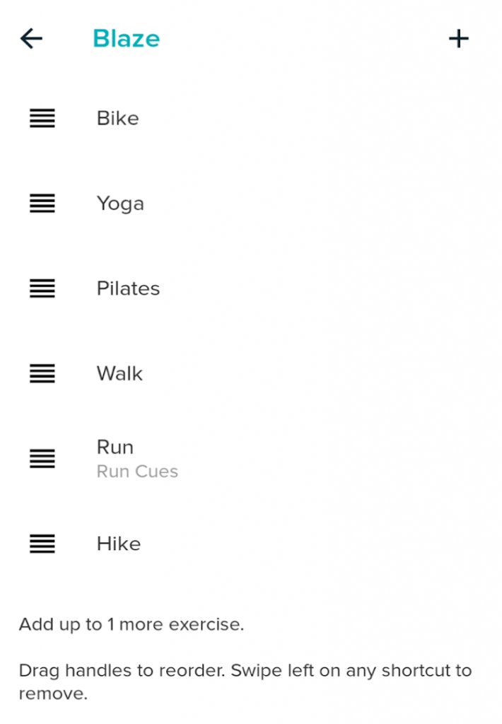 Fitbit additional exercise