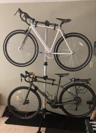 Two bike Stand stacked on top of each other