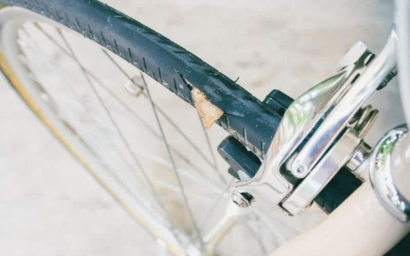 Punctured cycling wheel