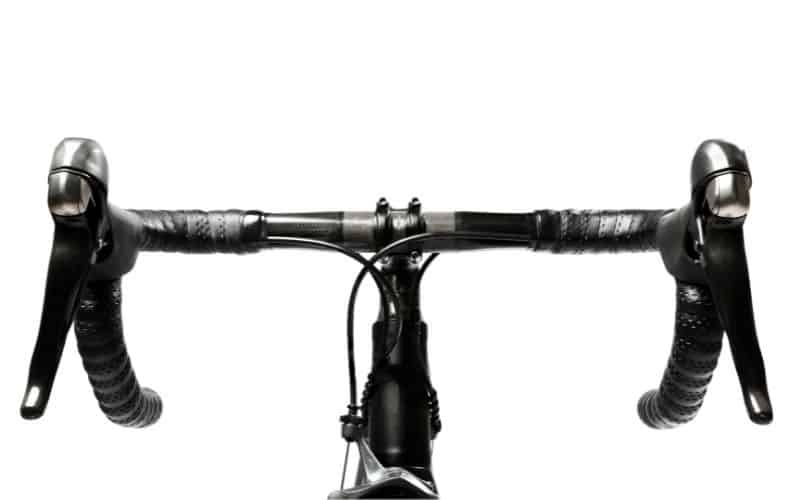 Road bike black gear shifters and brakes